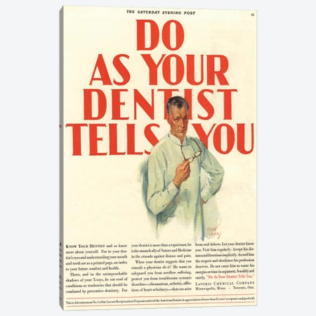 1920s Lavoris Magazine Advert Canvas Print #TAA232} by The Advertising Archives Canvas Artwork