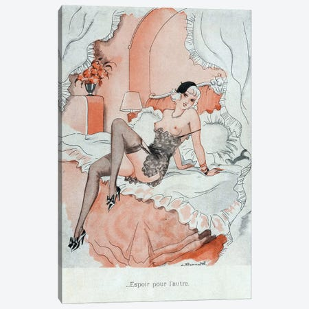 1920s Le Sourire Magazine Plate Canvas Print #TAA233} by The Advertising Archives Canvas Wall Art