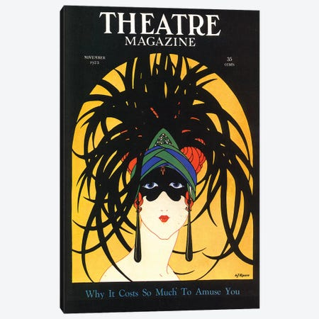 1920s Theatre Magazine Cover Canvas Print #TAA242} by The Advertising Archives Canvas Print