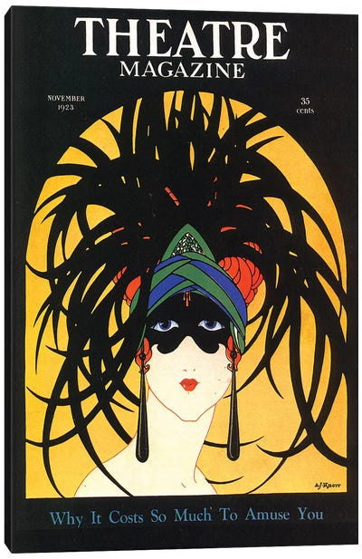 1920s Theatre Magazine Cover Canvas Art Print