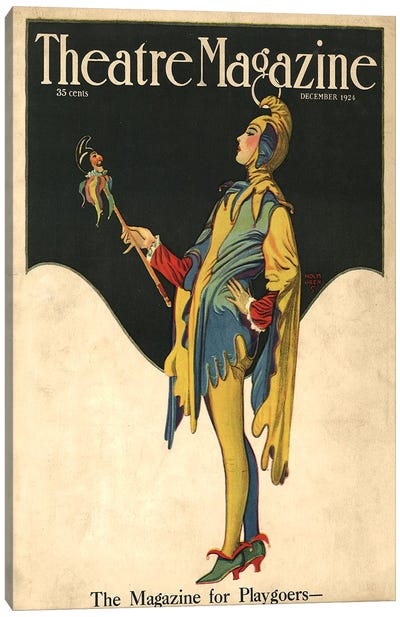 1921 Theatre Magazine Cover Canvas Art Print