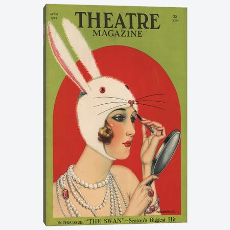 1924 Theatre Magazine Cover Canvas Print #TAA246} by The Advertising Archives Canvas Wall Art