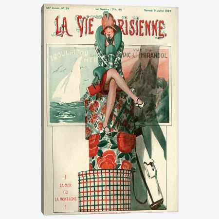 1927 La Vie Parisienne Magazine Cover Canvas Print #TAA249} by The Advertising Archives Canvas Print