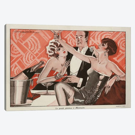 1927 Le Sourire Magazine Plate Canvas Print #TAA250} by The Advertising Archives Canvas Artwork