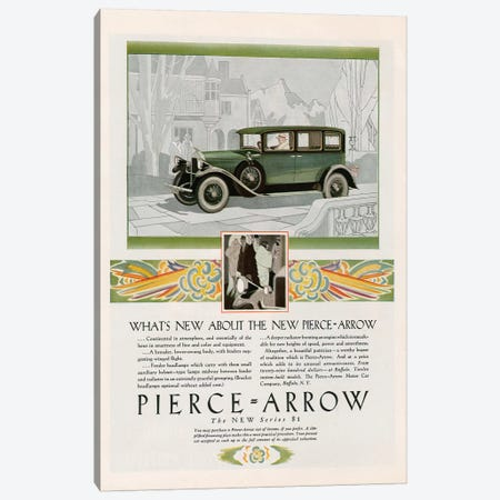 1928 Pierce-Arrow Magazine Advert Canvas Print #TAA253} by The Advertising Archives Canvas Art
