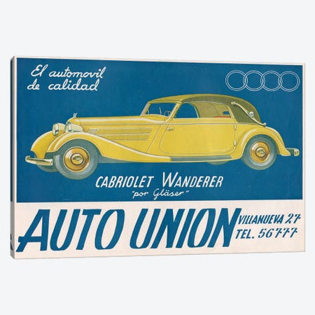1930s Audi Magazine Advert Canvas Print #TAA258} by The Advertising Archives Canvas Art