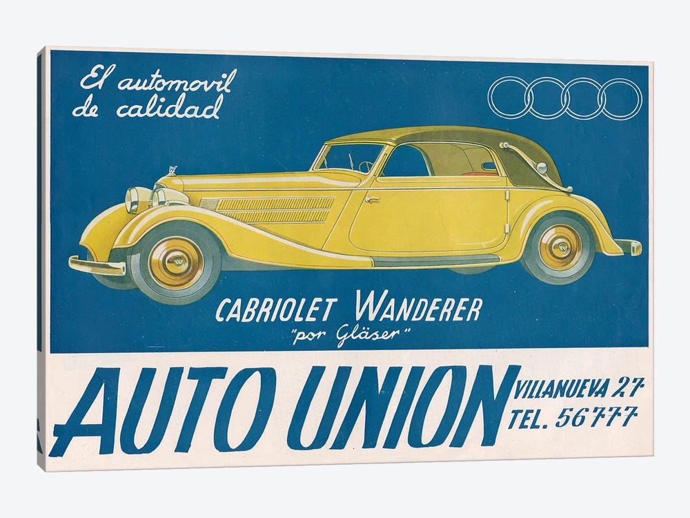 1930s Audi Magazine Advert by The Advertising Archives 1-piece Art Print