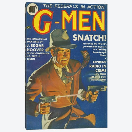 1935 G-Men Magazine Cover Canvas Print #TAA265} by The Advertising Archives Canvas Artwork
