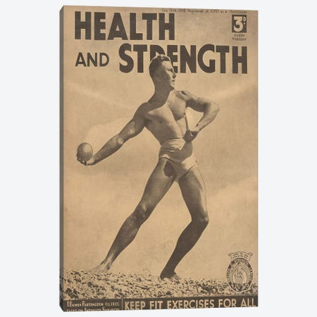 1938 Health And Strength Magazine Cover Canvas Print #TAA266} by The Advertising Archives Canvas Wall Art
