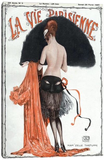 1920 La Vie Parisienne Magazine Cover Canvas Art Print