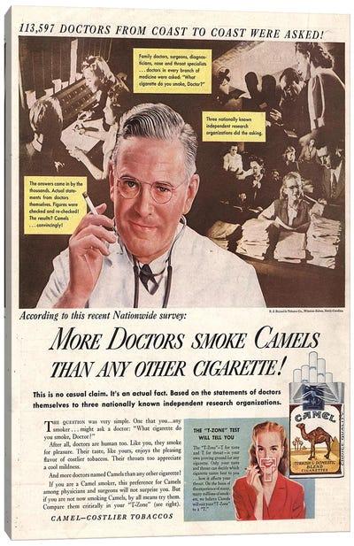 1940s Camel Cigarettes Magazine Advert Canvas Art Print