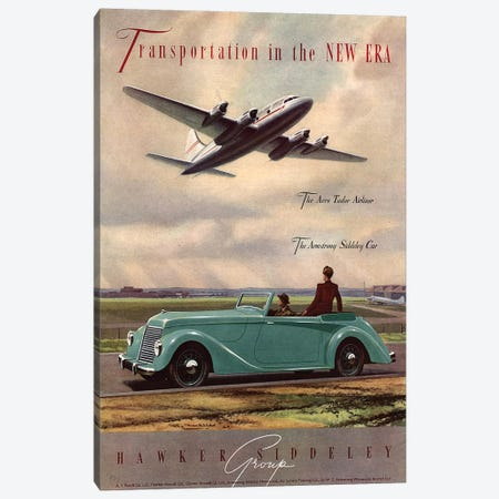 1940s Hawker Siddeley Aviation Cars Magazine Advert Canvas Print #TAA271} by The Advertising Archives Canvas Art