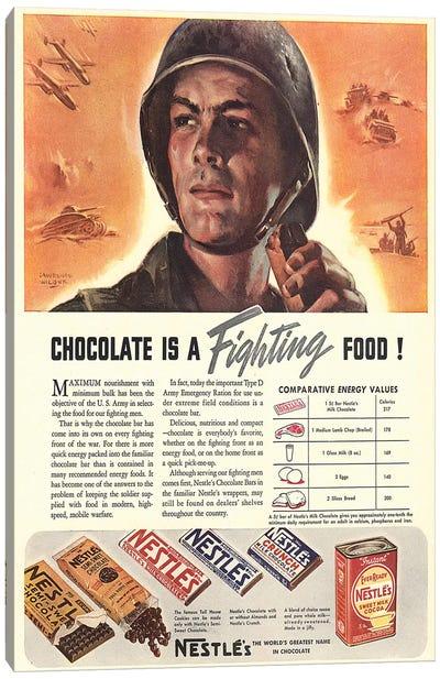 1940s Nestle Chocolate Magazine Advert Canvas Art Print
