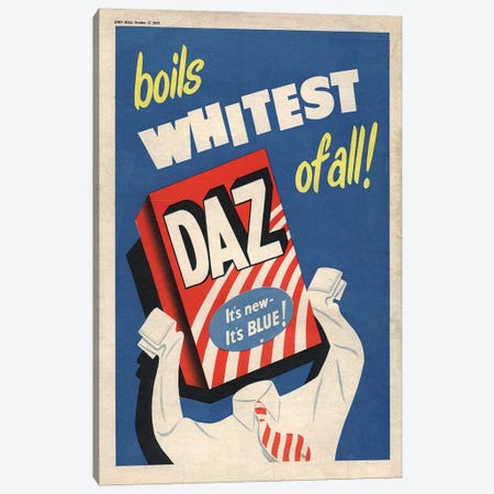 1950s Daz Detergent Magazine Advert Canvas Print #TAA275} by The Advertising Archives Art Print