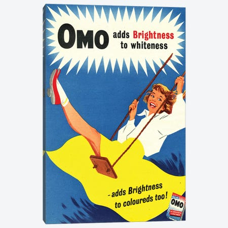 1950s Omo Detergent Magazine Advert Canvas Print #TAA277} by The Advertising Archives Canvas Art Print