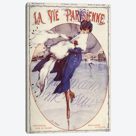 1920 La Vie Parisienne Magazine Cover Canvas Print #TAA27} by Leo Fontan Canvas Wall Art