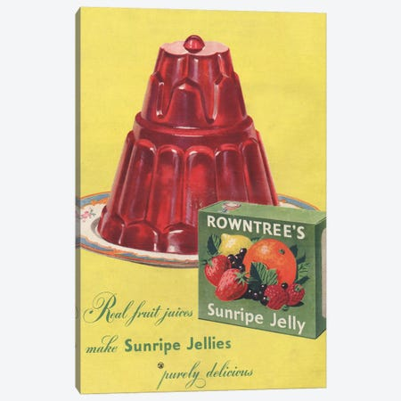 1950s Rowntree's Sunripe Jelly Magazine Advert Canvas Print #TAA281} by The Advertising Archives Canvas Print