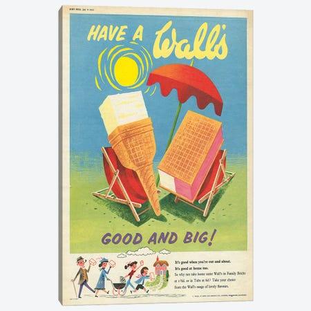 1950s Walt's Ice Cream Magazine Advert Canvas Print #TAA282} by The Advertising Archives Canvas Art Print