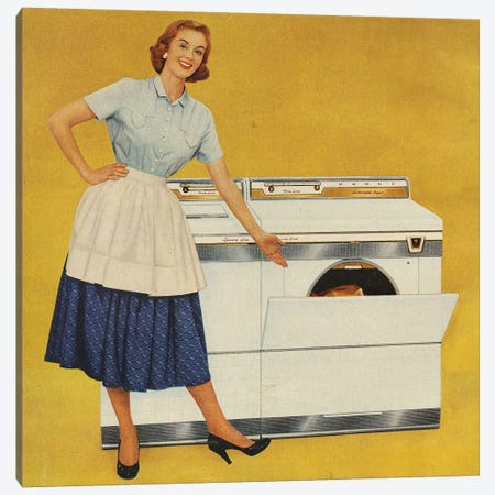 1950s Washing Machines Magazine Advert Canvas Print #TAA283} by The Advertising Archives Art Print