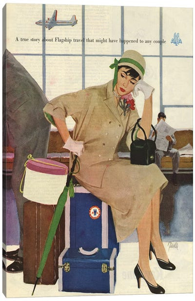 1953 American Airlines Magazine Advert Canvas Art Print