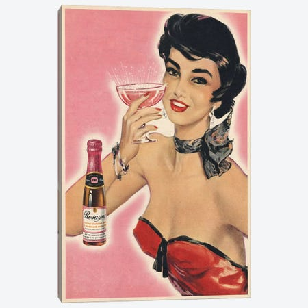 1954 Rosayne Champagne Magazine Advert Canvas Print #TAA287} by The Advertising Archives Canvas Artwork