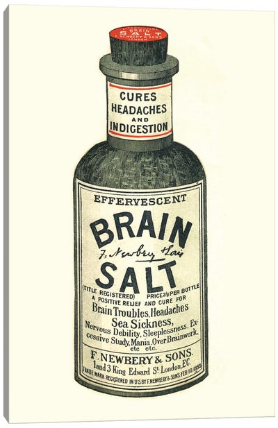 1890s Brain Salt Magazine Advert Canvas Art Print
