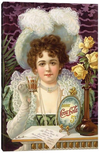 1890s Coca-Cola Magazine Advert Canvas Art Print