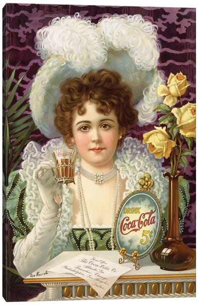 1890s Coca-Cola Magazine Advert Canvas Art Print