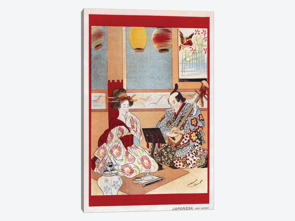 1898 Japanese Music Magazine Plate by The Advertising Archives 1-piece Canvas Print