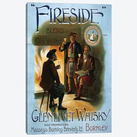 1904 Glenlivet Whisky Poster Canvas Print #TAA294} by The Advertising Archives Canvas Art Print