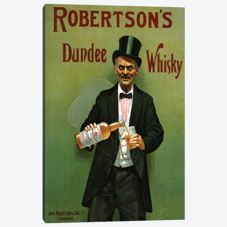 1904 UK Robertson's Whisky Poster Canvas Print #TAA295} by The Advertising Archives Canvas Art Print