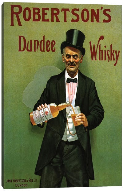 1904 UK Robertson's Whisky Poster Canvas Art Print