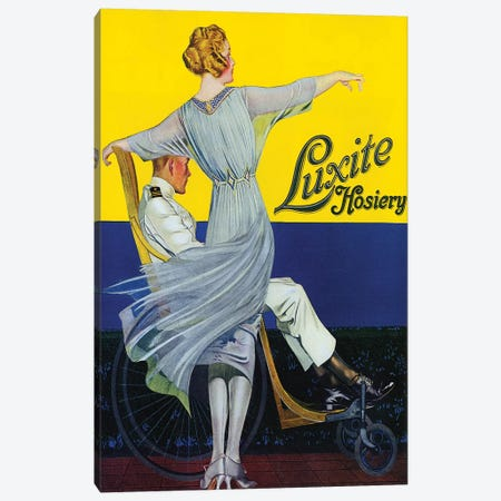 1910s Luxite Hosiery Magazine Advert Canvas Print #TAA298} by The Advertising Archives Canvas Art