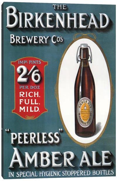 1910s UK Birkenhead Amber Ale Poster Canvas Art Print