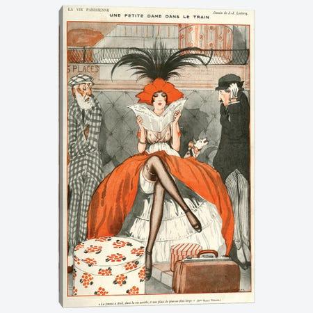 1920 La Vie Parisienne Magazine Plate Canvas Print #TAA29} by Julien Jacques Leclerc Canvas Print