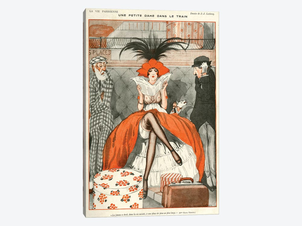 1920 La Vie Parisienne Magazine Plate by Julien Jacques Leclerc 1-piece Canvas Artwork