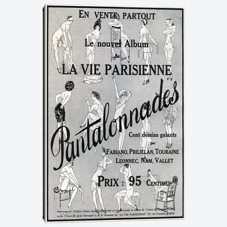 1912 La Vie Parisienne Magazine Advert Canvas Print #TAA302} by The Advertising Archives Canvas Art