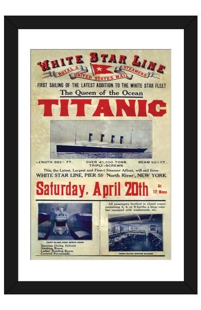 1912 UK Titanic Poster Framed Art Print