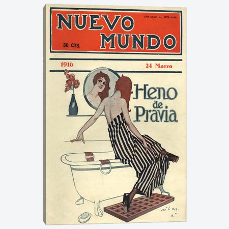 1916 Nuevo Mundo Magazine Cover Canvas Print #TAA306} by The Advertising Archives Art Print