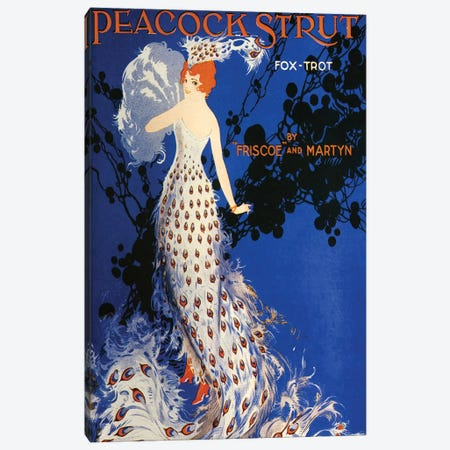 1917 Peacock Strut Sheet Music Cover Canvas Print #TAA308} by The Advertising Archives Canvas Art