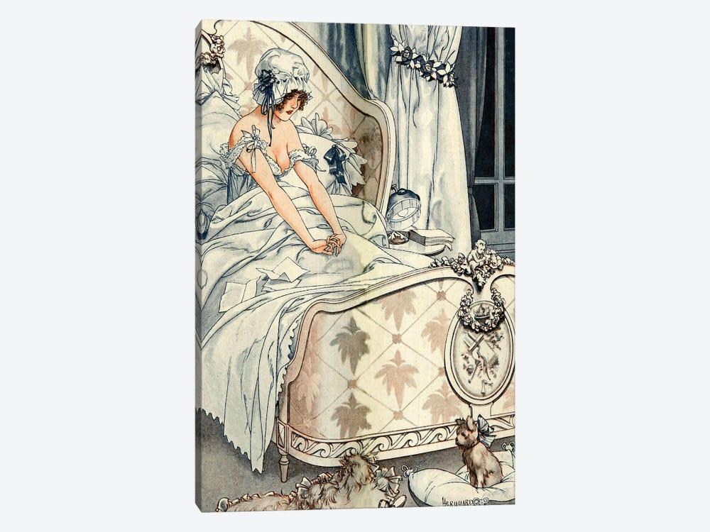 1918 La Vie Parisienne Magazine Plate by Cheri Herouard 1-piece Canvas Artwork