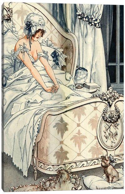 1918 La Vie Parisienne Magazine Plate Canvas Art Print