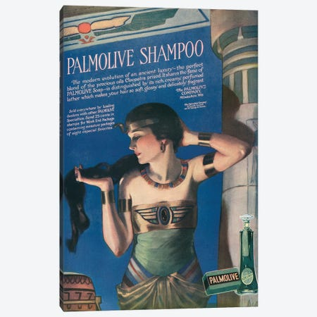 1918 Palmolive Shampoo Magazine Advert Canvas Print #TAA311} by The Advertising Archives Canvas Art Print