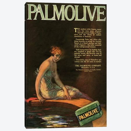 1919 Palmolive Soap Magazine Advert Canvas Print #TAA312} by The Advertising Archives Canvas Art Print