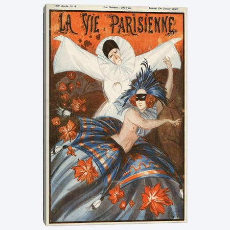 1920 La Vie Parisienne Magazine Cover Canvas Print #TAA313} by Armand Vallee Art Print