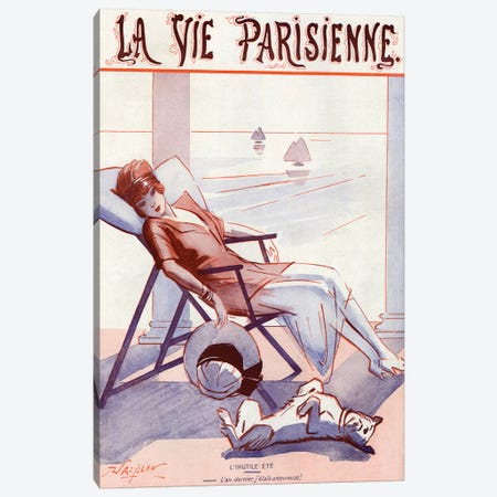 1920 La Vie Parisienne Magazine Cover Canvas Print #TAA314} by Rene Prejelan Canvas Artwork