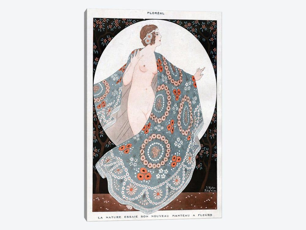 1920 La Vie Parisienne Magazine Plate by Joseph Kuhn-Regnier 1-piece Canvas Artwork