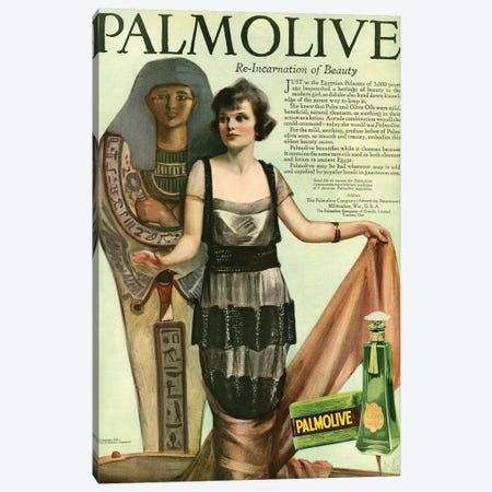 1920 Palmolive Shampoo Magazine Advert Canvas Print #TAA317} by The Advertising Archives Canvas Wall Art