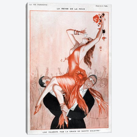 1920s La Vie Parisienne Magazine Plate Canvas Print #TAA31} by Armand Vallee Canvas Art