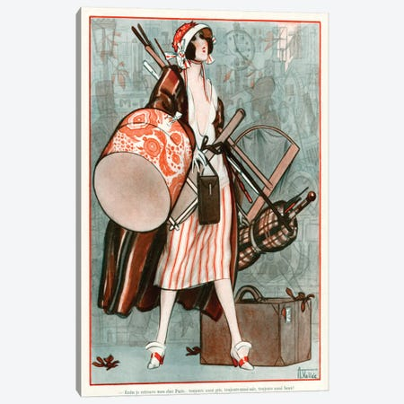 1920s La Vie Parisienne Magazine Plate Canvas Print #TAA324} by Armand Vallee Canvas Art Print